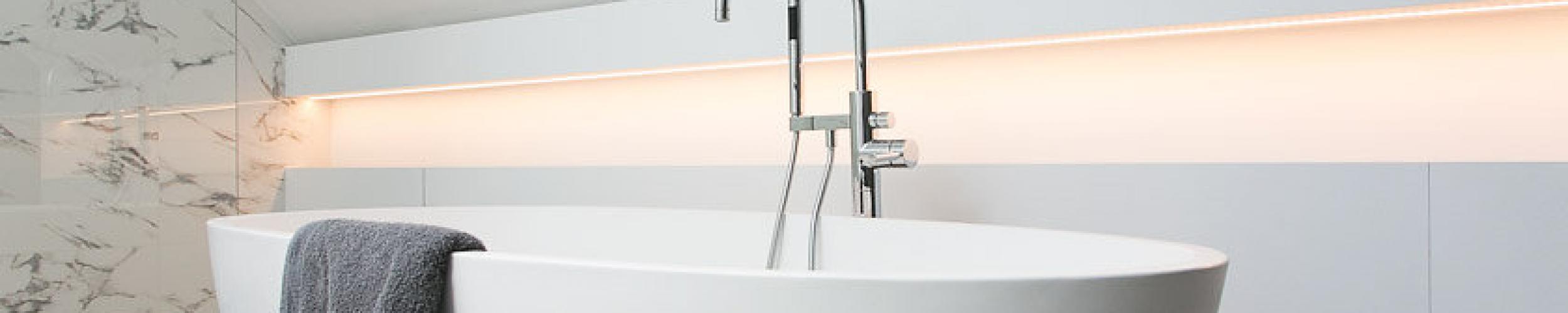 badkamer met lichtgoot
